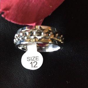 Men's Silver Alloy Steel Ring